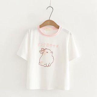 Kawaii Fairyland - Rabbit Print Short-Sleeve T-Shirt
