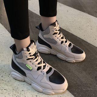 Asterisk - 高幫繫帶休閒鞋