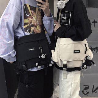 Porstina - Paneled Buckled Flap Crossbody Bag