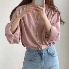 Hanji - 长袖扣钮衬衫