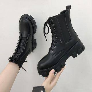 Vindler - 厚底系带短靴