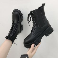 Vindler - Platform Lace-Up Boots