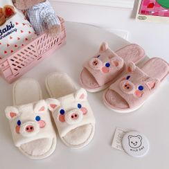 Pouffle - Chenille Pig Home Slippers