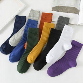 TAHLIA - Plain Cotton Socks