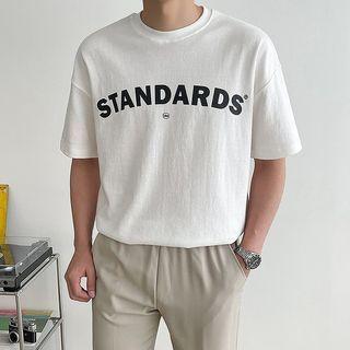Seoul Homme - 'STANDARDS' Letter Print T-Shirt