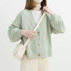 Ilda - 长袖纯色针织开衫