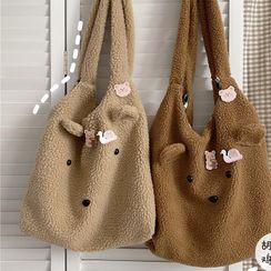 Anchara - 小熊造型绒质手提袋