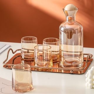 Cassandra - Glass Jug / Drinking Cup / Tray