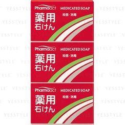KUMANO COSME - Pharmaact Medicated Soap 3-Piece Set