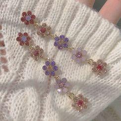 Studio Nana - Faux Crystal Flower Dangle Earring
