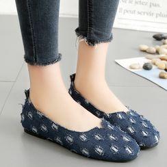Shoeland - 牛仔平跟鞋