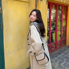 chuu - Single-Breasted Trench Coat
