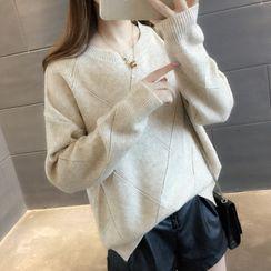 Ichimiu - Argyle Stitched Sweater