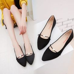 Yoflap - Faux-Pearl Pointy-Toe Flats