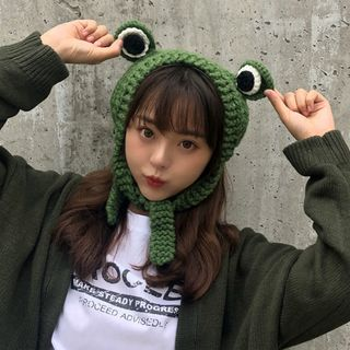FROME - Knit Frog Eye Knit Beanie