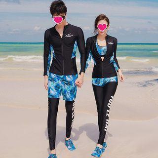 Hipper - Couple Matching Long-Sleeve Rashguard / Top / Bottom / Shorts / Pants / Set