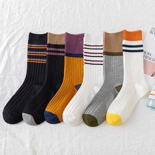 Wolfhara - Striped Ribbed Socks