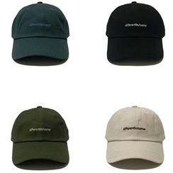 Heloi - Embroidered Lettering Baseball Cap