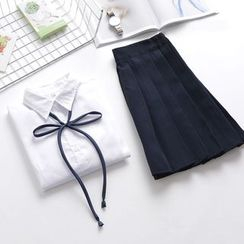 Aiyiruo - Set: Shirt + Pleated Skirt