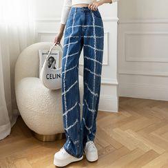 Termane - Printed Wide Leg Jeans