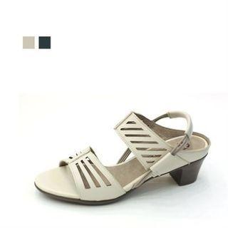 MODELSIS - Genuine Leather Sling-Back Sandals