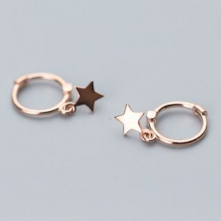 A'ROCH - Star Drop Mini Hoop Earrings