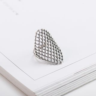 CHOSI - 925 Sterling Silver Mesh Open Ring