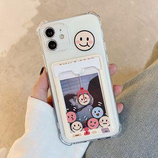 likamika - Cartoon Transparent Mobile Case - iPhone 13 Pro Max / 13 Pro / 13 / 13 mini / iPhone 12 Pro Max / 12 Pro / 12 / 12 mini / 11 Pro Max / 11 Pro / 11 / SE / XS Max / XS / XR / X / SE 2 / 8 / 8 Plus / 7 / 7 Plus
