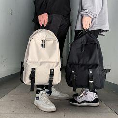 Carryme - 飾扣純色背包