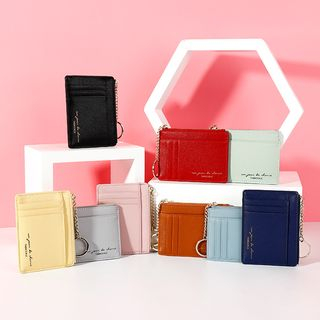 Taomicmic(タオミクミク) - Lettering Faux Leather Card Holder