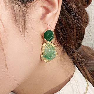Catalunya - Irregular Gemstone Dangle Earring