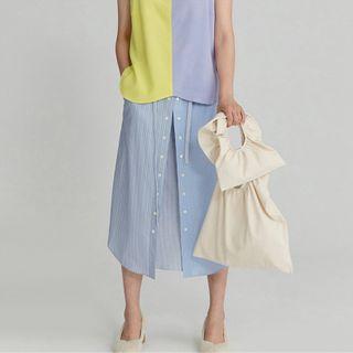 TangTangBags - Ruffled Canvas Handbag
