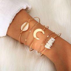Yongge - Set of 5: Horn / Alloy Bracelet (assorted designs)