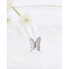 Miss21 Korea - Rhinestone Butterfly Piercing (Single)