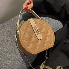 JAMEL - Quilted Round Crossbody Bag