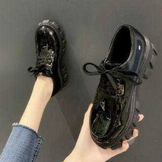 Nikao - 厚底漆皮牛津鞋