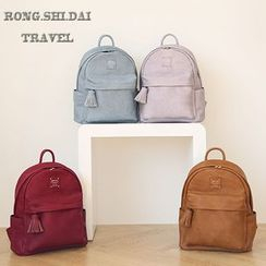 Evorest Bags - Tasseled Faux Leather Backpack