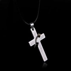 Prushia(プルシア) - Stainless Steel Cross Pendant Necklace