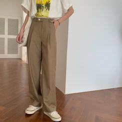 Moon City - High-Waist Straight-Fit Dress Pants
