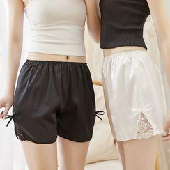 Riad - Lace Panel Wide Leg Undershorts