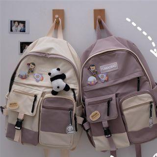 Anchara - Two-Tone Nylon Backpack