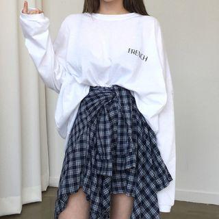 Princessy - 字母套衫 / 格子A字裙