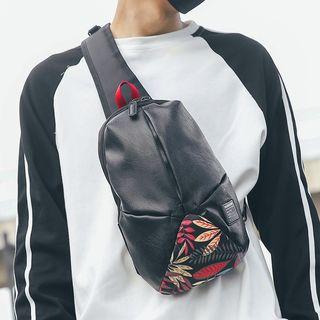 SUNMAN - Faux Leather Sling Bag