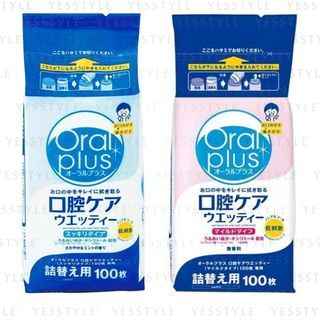 Wakodo - Oral Plus Wet Tissue For Oral Care Refill 100 pcs - 2 Types