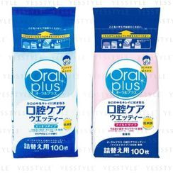Wakodo 和光堂 - Oral Plus Wet Tissue Refill 100 pcs - 2 Types