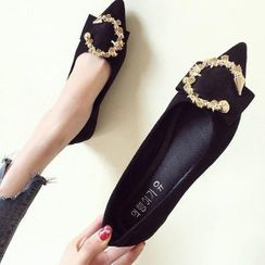 Belbie - Metal Accent Pointed Flats