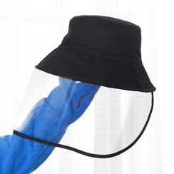 Yulu - Plain Bucket Hat with Face Shield