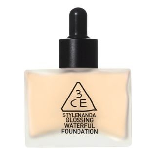 3CE - Glossing Waterful Foundation SPF15 PA+ 40g (4 Colors)