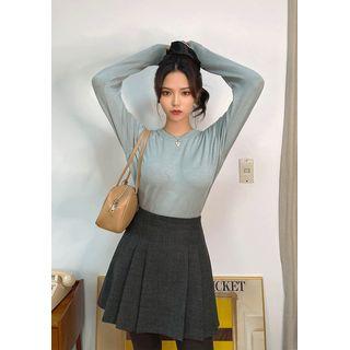 chuu - A-Line Mini Pleat Skirt