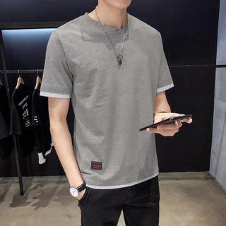 KOKAY - Mock Two-Piece Short-Sleeve T-Shirt